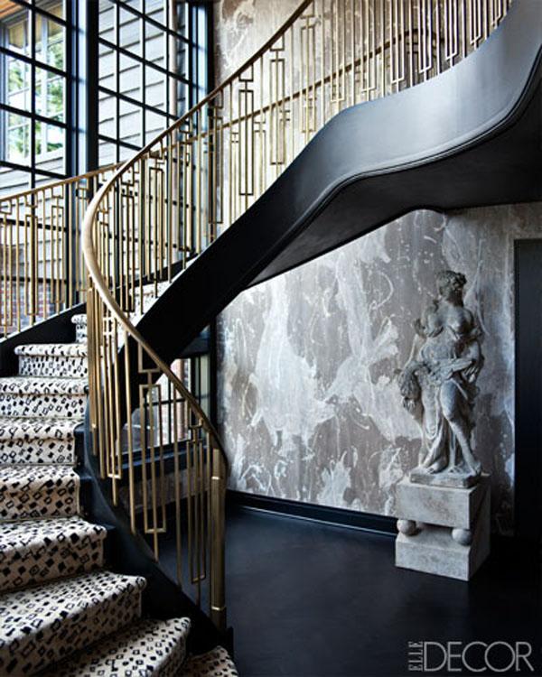 brass stair rail