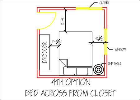 Small bedroom design part 1 space planning for Small bedroom design 10x10