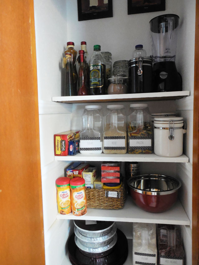 small organized pantry