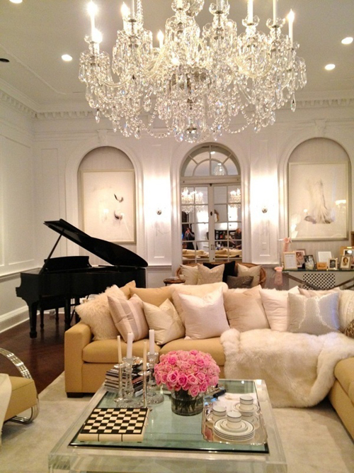 glamorous living room via All the King's Horses & All the King's Men