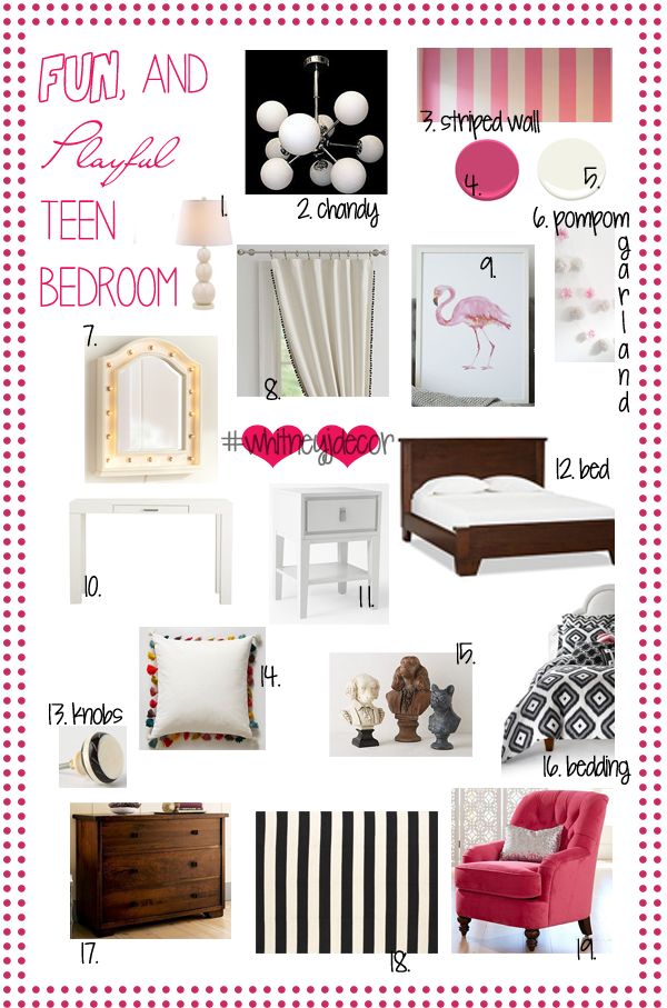 fun and playful teen girl decor