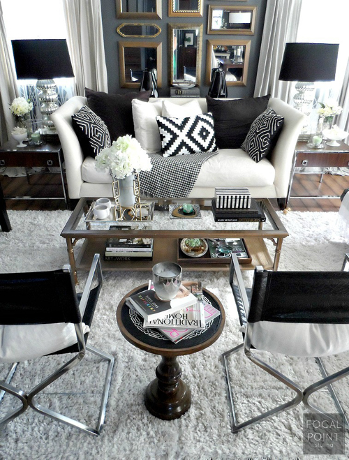 Designer Love Lynda Quintero Davids Black And White Living Room Whitney J