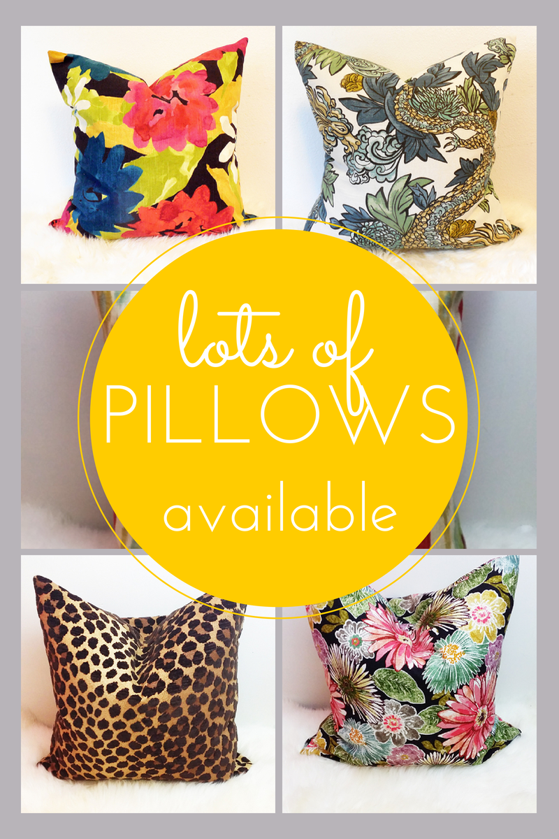 pillows available for sale