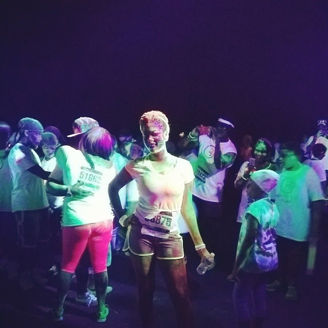 Don't let the smile fool you, the bugs are eating me up!!!! #blacklightrun @blacklightrun
