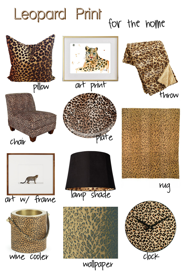 Decorating with Leopard Print Decor Whitney J Decor