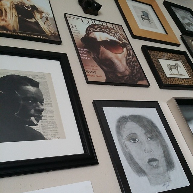 Finally put Nat King Cole up on my gallery wall. Thanks to Belle of @reimaginationprints for sending him to me!