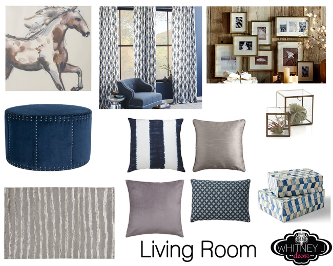 Design project gray and blue living room bedroom design - Grey and blue living room ...