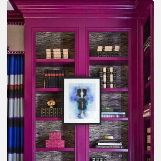 I wanna paint a bookcase this color so badly!! #detail #decor #home #interior #design