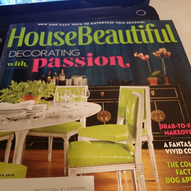 Don't know if I'll ever get the time to dive in, but the color/cover of the November issue has me INTRIGUED @housebeautiful. Live your work @milesredd #lifeofadesigner #interiordesign #homedecor #color #diningroom #decorating #decoratingwithpassion
