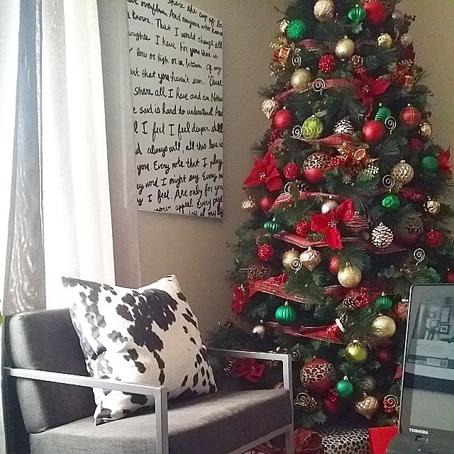 Working from the sofa today. Enjoying my favorite view! #xmas #christmas #home