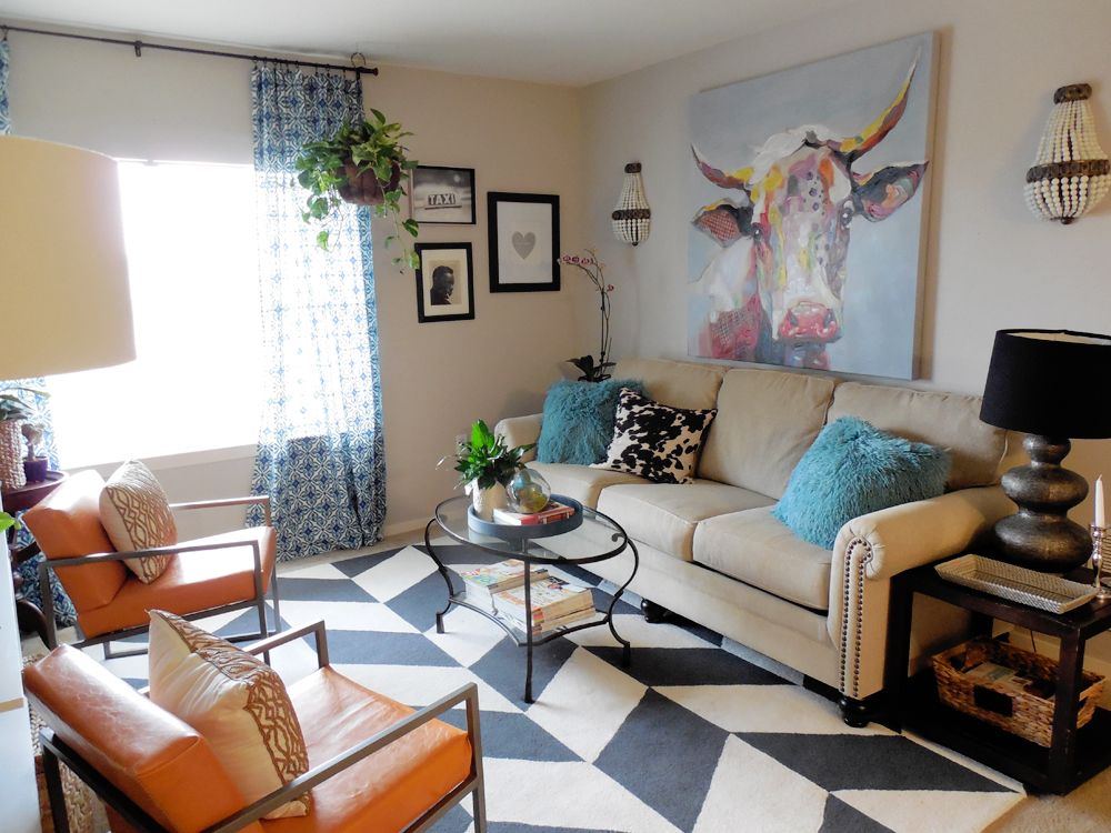 Whitney j decor s living room reveal for S carey living room tour