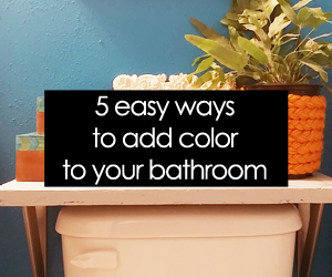 5 ways to add color to your bathroom