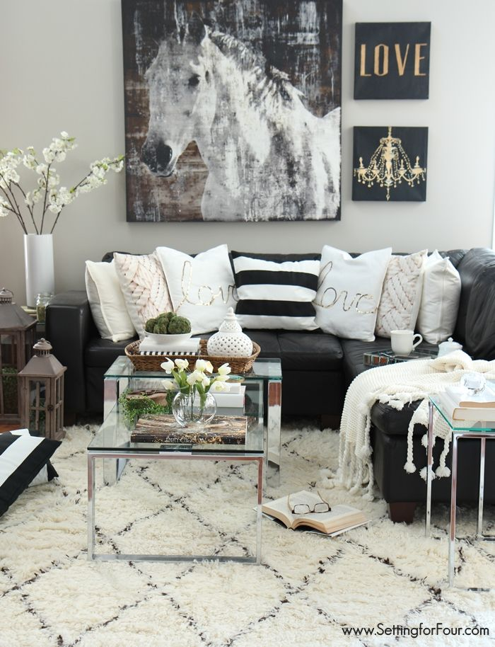 8 ways to successfully pull off a black and white room for Black and white interior decor