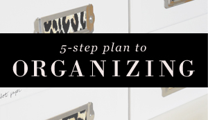 5-Step Plan to Organizing Any Room in Your Home