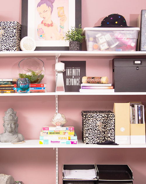 A Beautiful Pink Wall Color for the Home Office + Updates | My Home