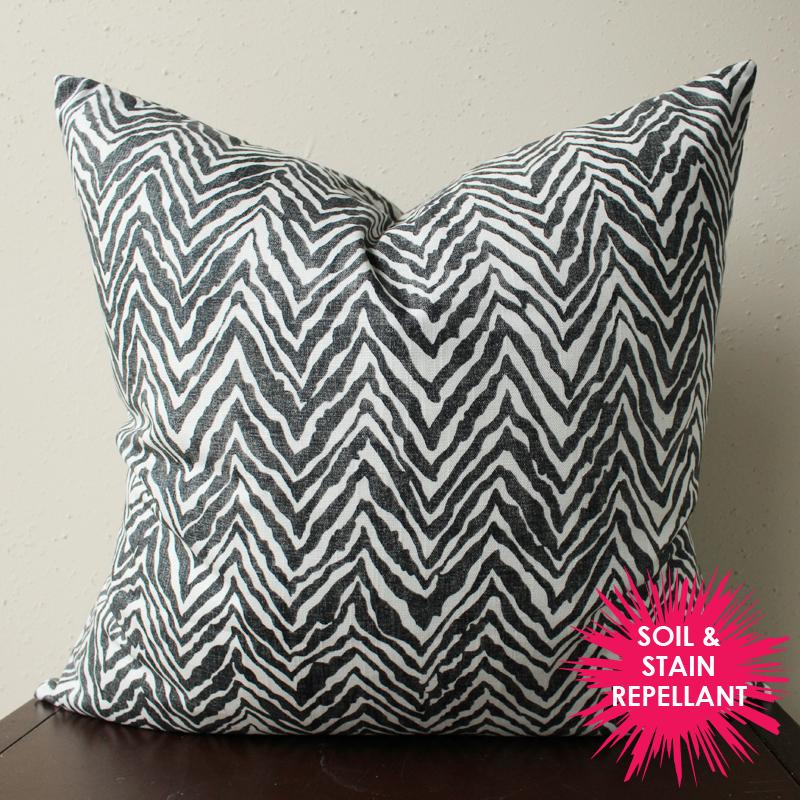 black and white pillow | black and white zebra print pillow | animal print | black and white decor