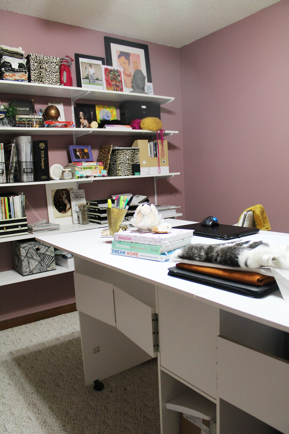 A Beautiful Pink Wall Color For The Home Office Updates Whitney J Decor Paint Walls Nola Decorator