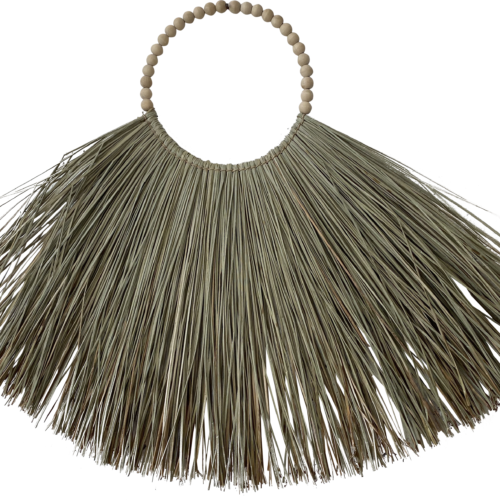 Indonesian Beaded Natural Grass Necklace